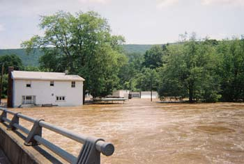 Flooded river in PA - 2006